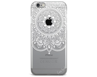 Clear iphone case,  clear iPhone 7 case, mandala clear iphone 6 case,iphone 7 case,clear iphone case,clear, Samsung S7 Apple Mandala