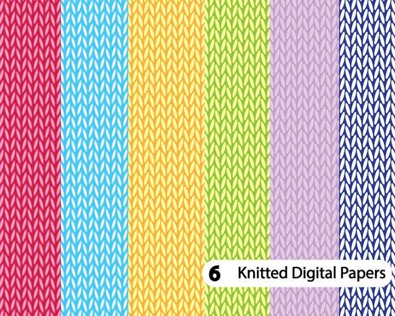 Knitting Pattern Paper : Knit digital paper Knitting Pattern Crochet digital paper