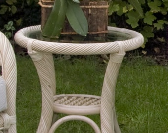 Marbella lamp table white