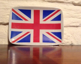Limoges Union Jack Ashtray/ So Unusual
