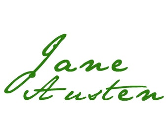 Jane Austen Machine Embroidery Font Monogram Alphabet, Bx Embroidery, Pes Format, Jef Format, Hus Format, Sew Format and More