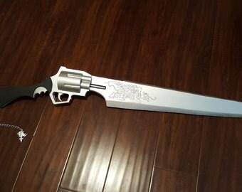 Final Fantasy 8 Squall Gunblade Wooden Replica Sword