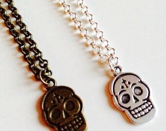Sugar Skull | Candy Skull | Skull |  Day Of The Dead | Emo | Gothic | Alternative | Necklace