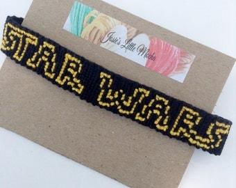 Star Wars Bracelet / Star Wars friendship bracelet / Disney Movie bracelets / Handmade bracelets / Season of the force / Handmade Jewelry