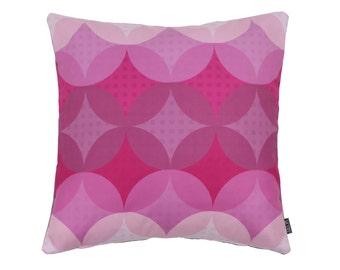 Cushion Graphi Circles pink 45x45 cm