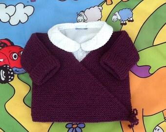 Wrap baby Eggplant knit vest