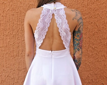 White Lace Dress TG. S
