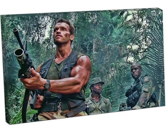 522 Print On Canvas Deep in the jungle SCHWARZENEGGER army