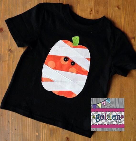 Halloween Mummy Pumpkin Boy Tee, Boy Shirt, Onesie