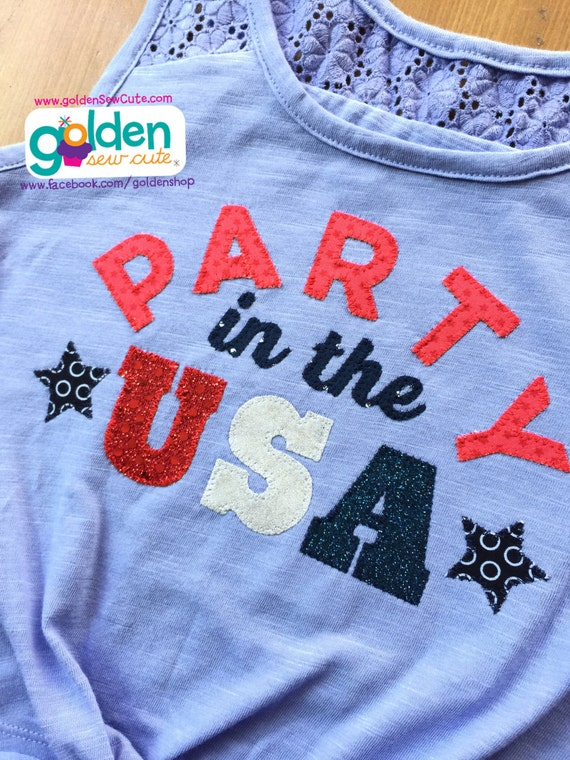 4th of July Party in the USA Tee or Dress, America, Fourth of July, July 4, Independence Day, Shirt or Dress