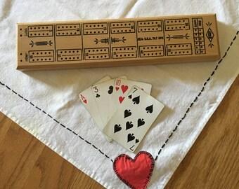 Vintage Lowe's Cribbage Board Game, 1970