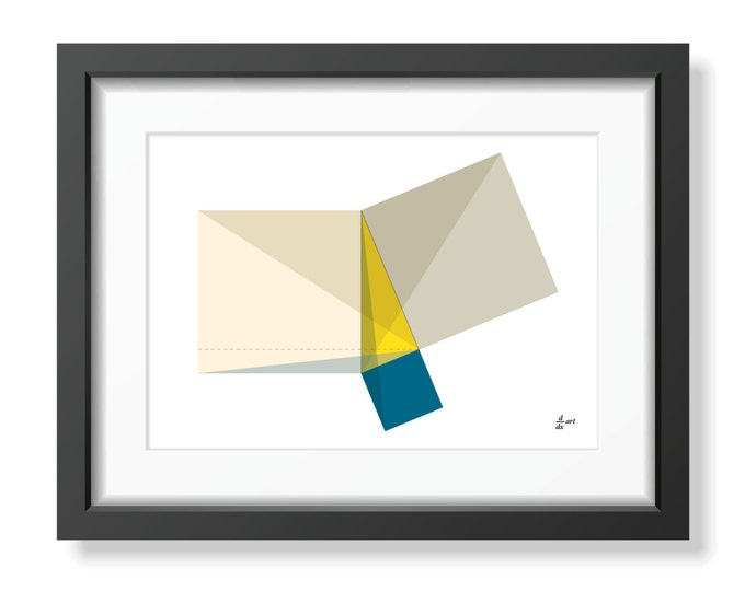 Pythagoras 08 [mathematical abstract art print, unframed] A4/A3 sizes