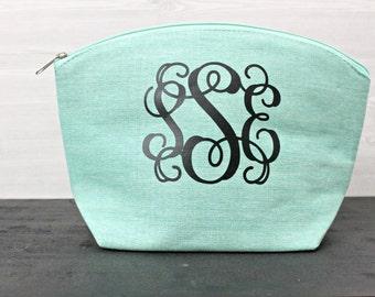 Monogram Cosmetic Bag - Bridesmaids Cosmetic Bag - Make-Up Bag - Monogram Makeup Bag - Bridesmaids Gift - Personalized Gift - Cosmetic Bag