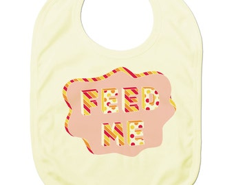 Funny Baby Bibs for Baby Boy Baby Girl Dribble Bib Feeding Bib Feed Me Baby Gift
