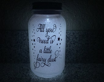 Personalized solar Mason jar lights