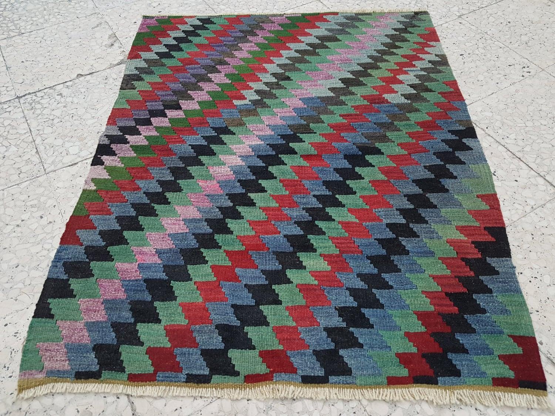 multi color tapestry kilim rug vintage kelim teppich tapis. Black Bedroom Furniture Sets. Home Design Ideas