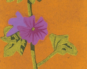 Garden #11, original woodcut print