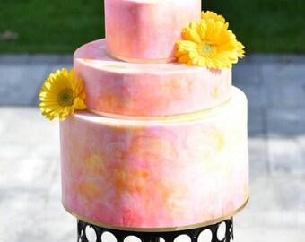 Watercolor style wedding display cake, wedding cake, wedding planner, photography prop, faux cake, fake cake, weddings, wedding planning