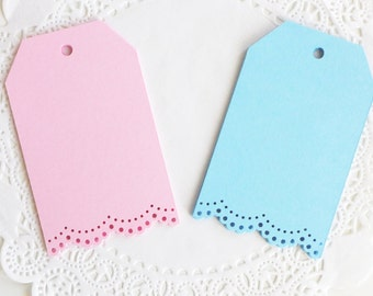 Lace Tags, Vintage Tags, Blank Tags, Luggage Tags, Wedding Favor Tags, Baby Shower Gift Tags