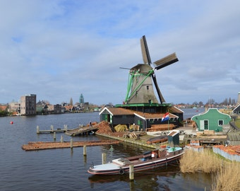 Windmill on the Water - The Netherlands