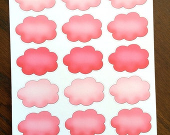 Pink Clouds Planner Stickers