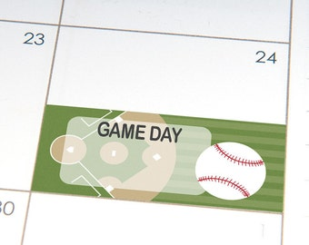 PRINTABLE Baseball Game Day planner stickers