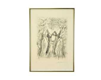 """Ira Moskowitz """"Reaches of Heaven No.10"""" Artist's Proof Limited Edition Etching"""