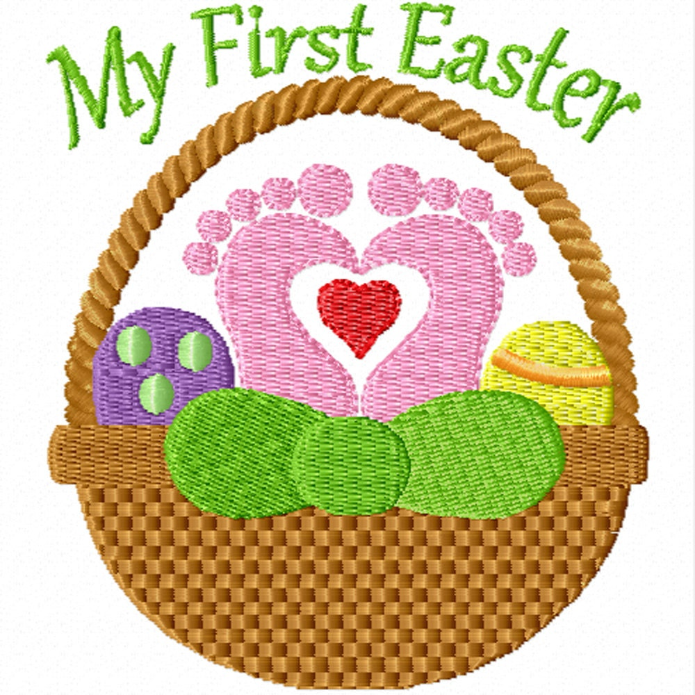 My first easter a machine embroidery design for baby