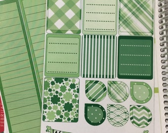 TNT011 March St. Patrick's Day Decoration, Erin Condren Vertical,Horizontal,Passion Planner,SewMuch Craftsy Planner Sticker Kit