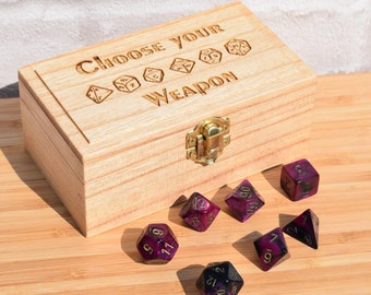 Medium Dice Box, rpg dice box, pathfinder dice, d&d dice, gaming box, rpg dice box, gamer gift, dice box gift, geek gift, wooden box gift