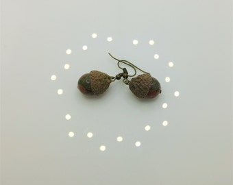 Unakite Acorn Earrings