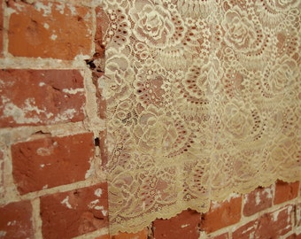Gorgeous Gold  Ewa Lace Fabric, non stretch by the 1/2 meter!