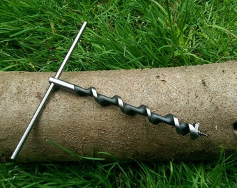XL Scotch Eyed T Auger For Bushcraft & Survival Trapping Para-Rope Poly-Rope