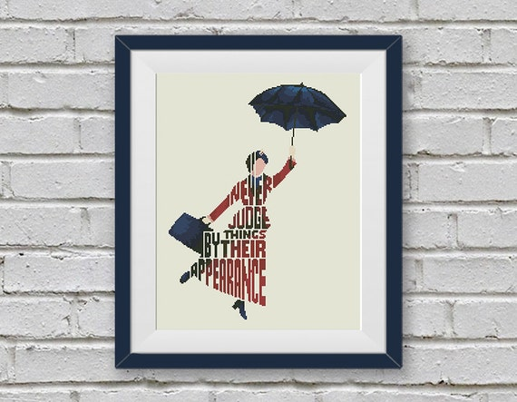 Bogo Free Mary Poppins Cross Stitch Pattern Quote By