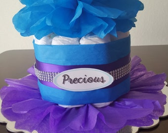 Purple Princess mini Diaper Cake