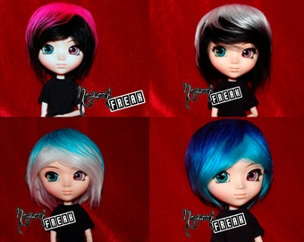 Pullip Wig - wig Pullip - Two Colours - Faux Fur