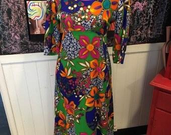 Hippy vintage dress szM