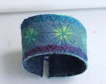 Hand-felted cuff bracelet