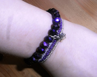 purple charm bracelet set