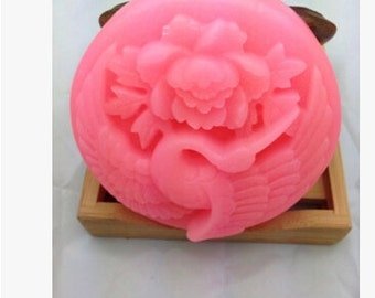 Peony candle mould Peony silicone mold soap Flower  soap  molds  Animal Molds Handmade