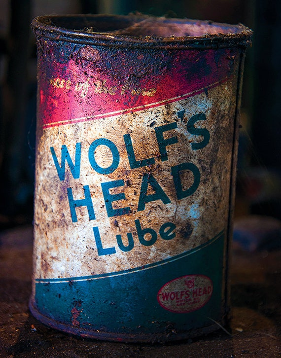 Foundry, Wolf's Head Lube, Wood Print, Abandoned, Rust, Wall Art, Pittsburgh, Pennsylvania, Industrial, Machine Shop