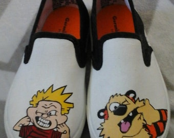 Calvin And Hobbes Inspired Shoes