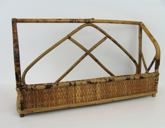 Vintage Retro Bamboo Rattan Wall Shelfbathroom Storage Vanity