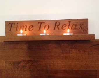 Time to relax tea light holder