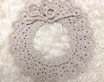 Fawn crochet baby collar / Peter Pan collar / baby girl collar