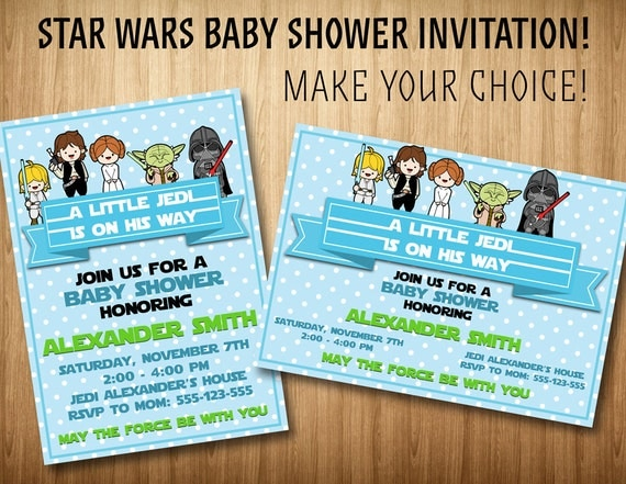 star wars baby shower invitation star wars boys invitation star wars