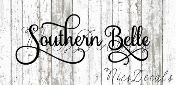 Southern Belle Car Decal Southern Belle Decal Vinyl Decal