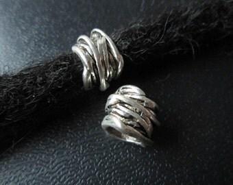 1PCS Silver Dreadlock beads dread Jewelry Making Accessories 8mm hole