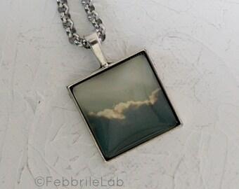 Cloud photo pendant