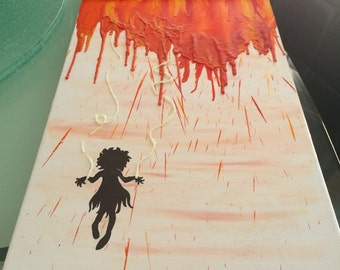 Melted Crayon Marionette Painting